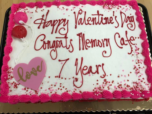 Memory Cafe Valentines Day Cake
